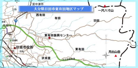 東有田地区マップ
