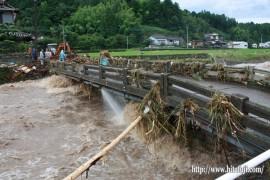 水が引き始めた日掛け橋24.7.3