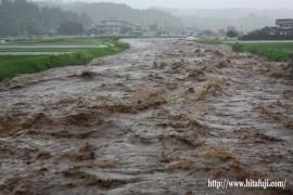 氾濫した有田川24.7.3