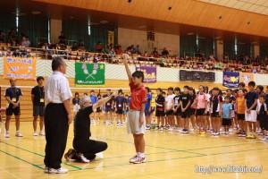 県小学生バドミントン大会開会式選手宣誓25.8.24