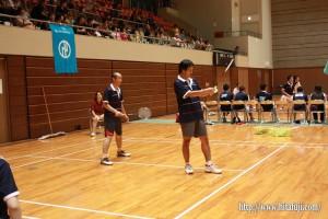 県体バドミントン決勝戦 40歳代男子ダブルス 岩下太郎・横澤良平組