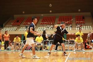 県体バドミントン決勝戦 一般男子ダブルス 松田卓也・高松剛組