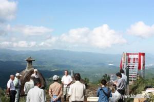月出山岳展望台お披露目式①25.9.5