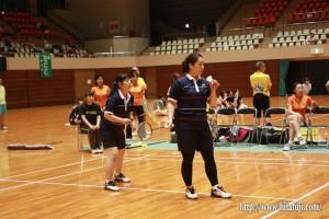 県体バドミントン決勝戦 40歳代女子ダブルス 宮本香・伊藤ひろみ組