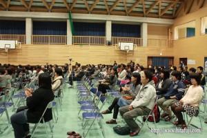 東有田中学校文化祭多くの地区民出席