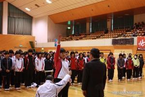 県中学生大会選手宣誓26.1.18