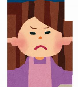 怒った顔②