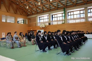 東有田中学校入学式26.4.9