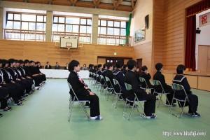 東有田中学校入学式26.4.9 ①