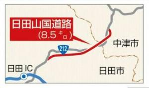 日田山国道路路線