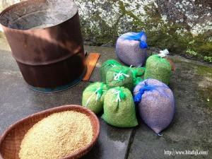 籾を水に付ける