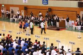 県体総合開会式優勝旗返還