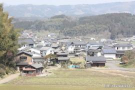 平島集落と上小寒水集落(山の下)