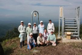 月出山岳に祈りの鐘設置26.9.8