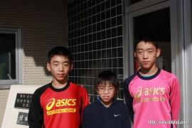小学生全国大会に出場の3人も出場