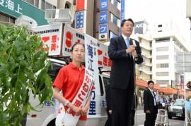 民主党海江田氏落選