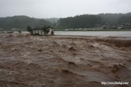 本村橋から見た豪雨24.7.3