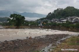 花月川財津町付近の災害爪痕24.7.4