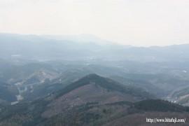 月出山岳から見た日田市街地27.1.5
