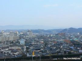 上野鏡坂公園から見た市街地27.1.5