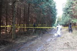 一尺八寸山捜索活動27.1.24 ③車がうまっていた林道