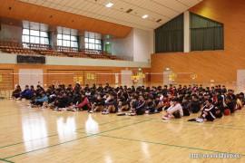 若鮎カップ大会開会式①27.2.22