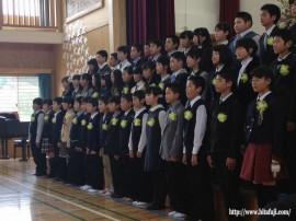 有田小学校卒業式27.3.24 ①