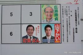 県知事選掲示板27.4.3