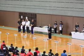バドミントン競技開始式で挨拶27.9.12
