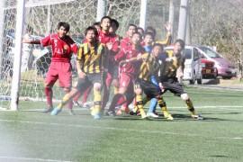 日田高校と柳ノ浦高校のサッカー試合①