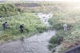 有田川の草刈り27.10.4