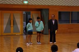 会長杯バドミントン大会27.11.1開会式②
