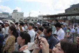安倍総理日田入り③28.7.中央公園