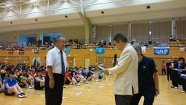 県体バドミントン表彰受ける 29.9.9中津市