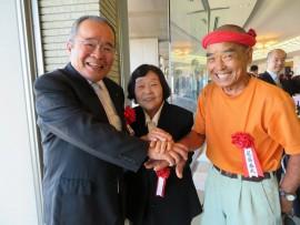 県功労者表彰尾畠春夫氏と30,11,3