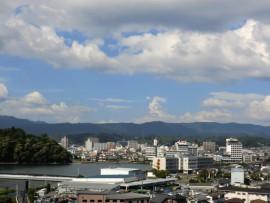 三隈川と市内写真